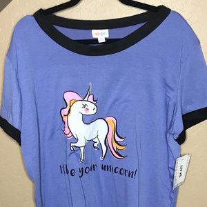 "Lularoe XL Liv T Shirt ""I'll Be Your Unicorn"""